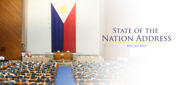 The State of the Nation 2013 was held at the Batasang Pambansa last July 22, 2013.